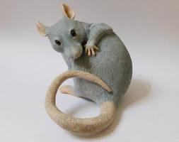 Washing Rat Sculpture by philosophyfox