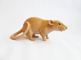 Dumbo Rat Sculpture Commission Alt Angle by philosophyfox