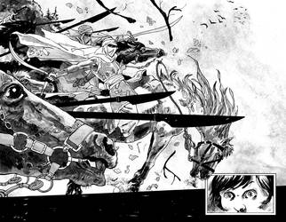 Page for my upcoming graphic novel by AleAragon