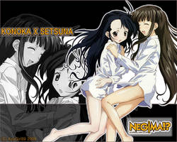 Konoka X Setsuna -Wallpaper- by AzuGirl89