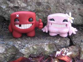 Meat Boy and Bandage Girl by Rook-XIII