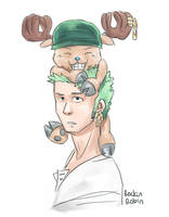 zoro + chopper 2 by rockinrobin