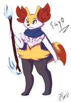 Tayo the Braixen by Xael-The-Artist