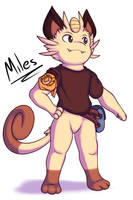 Miles the Meowth by Xael-The-Artist