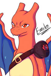 Emile the Charizard by Xael-The-Artist