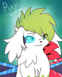 Pixy the Shaymin by Xael-The-Artist