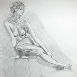 Nude woman by Oog007
