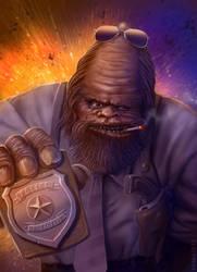 Bigfoot Cop by Vaghauk