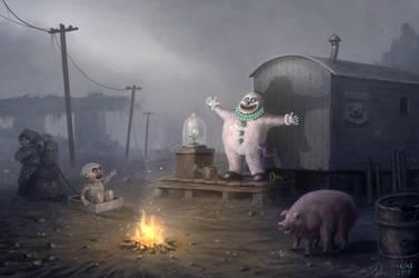 Bonzo The Happy Clown by Vaghauk