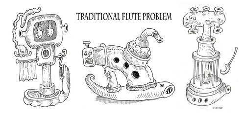 Traditional Flute Problem by Vaghauk