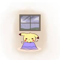 Lazy Rainy Day by pikaira