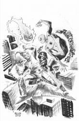 Spider-Man vs Green Goblin by kevinmellon