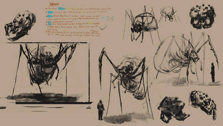 weaver idea sketches -Perdido creature 1 by lewdOoze