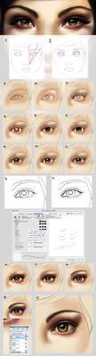 Eye tutorial - an update by acidlullaby