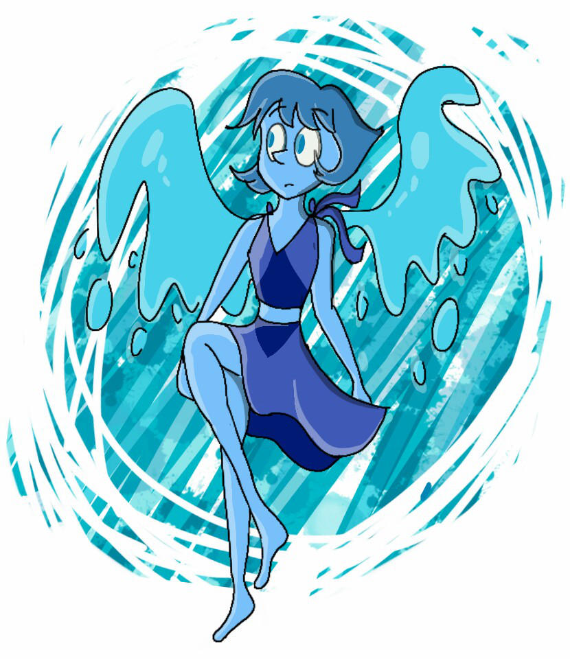 a Steven Universe fanart of Lapis, i love her!!! Art (C) Me Lapis Lazulli (c) Rebecca Sugar