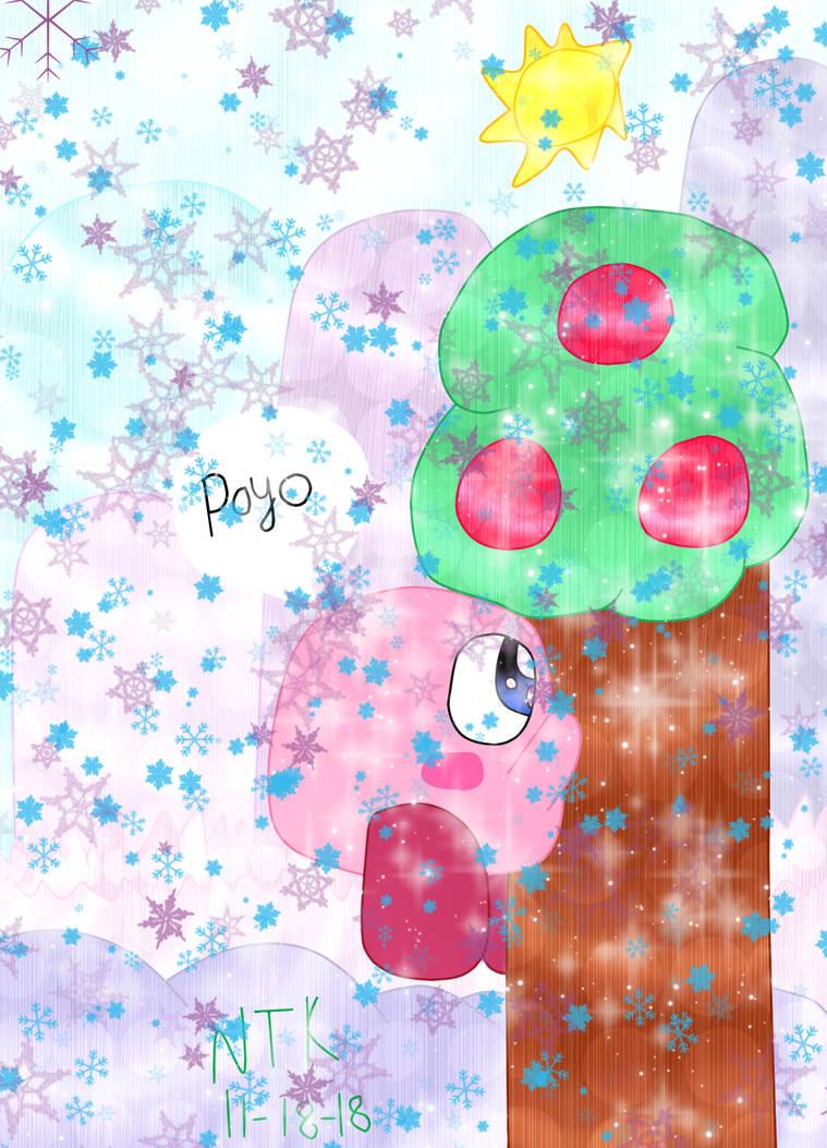 (AT OVER DUE) Kirby Clambing A Tree (FFA OF Kirby) by KoopalingAndMarioFan