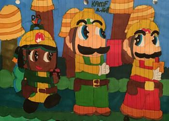 Cole Helping Mario And Luigi SMM2 Fan Art by KoopalingAndMarioFan