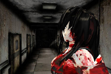 MMD Stage Silent Hill 4 Hospital Corridor DL by Clonesaiga
