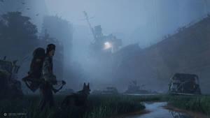 Breeze in monochrome night by AntoineCollignon