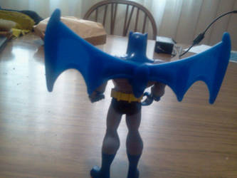 Flying Batman from Behind by KiwiJr