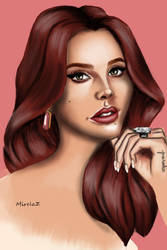 Digital portrait of Lana del Rey by MirelaZr