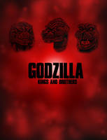 Godzilla: Kings and Brothers, Back Cover by KaijuKid
