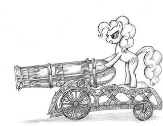 Pinkie and her Big Ass Cannon by TheOnlyCountFilth