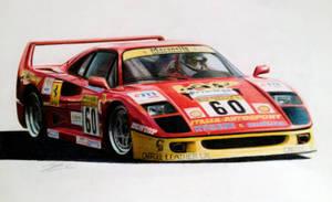 1989 Ferrari F40 - Italia Autosport livery by JamesWoodhead