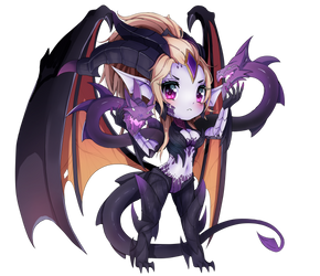Dragon Sorceress Zyra Chibi League Of Legends by xCappu