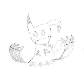 Mimikyu's Hidden Grin by ShyGamer108
