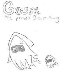 (Outdated) Gessa the Peeved Blooper-Nanny by ShyGamer108