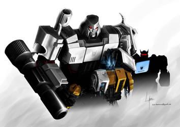 Megatron's wrath by Lateart