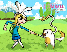 Wind Waker Style Fionna and Cake by The-Bradshacalypse