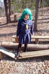 LUM schoolgirl uniform 8 by DustbunnyCosplay