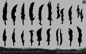 Blade Concept Art Silhouettes by eXecutex