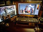 My workstation by DanielLeeHawk