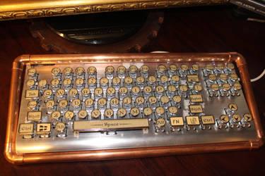 Steampunk Keyboard by DanielLeeHawk