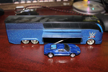 Bus with a Ford GT inside it by DanielLeeHawk