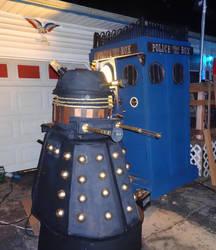 our groups TARDIS and Dalek by DanielLeeHawk