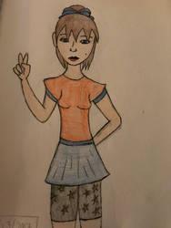 Random girl Coloured  by Princ3ssWolfi3