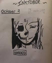 Inktober-October 2 Divided by Princ3ssWolfi3