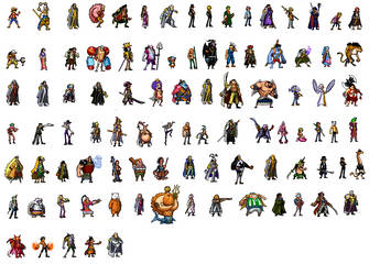 One Piece Characters Sprites by Aouli95