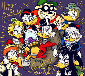 Happy Birthday Carl Barks!!! by scroogerello