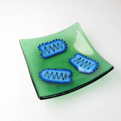 Rabies Virus Fused Glass Dish by trilobiteglassworks