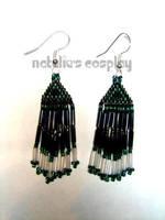 Dark Green Earrings by Natalie526