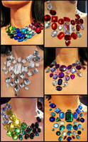 Rhinestone Statement Necklaces by Natalie526