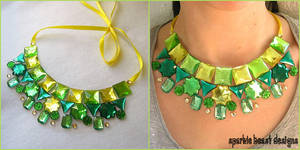 Green Collar Necklace by Natalie526