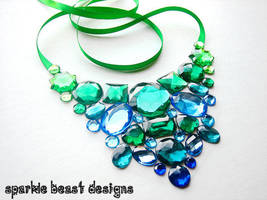 Blue and Green Gem Bib by Natalie526