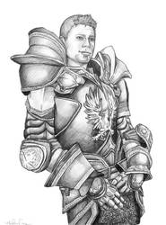 Alistair in Warden Armor by MiliaTimmain
