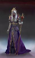 Dark Elf Queen by demonui